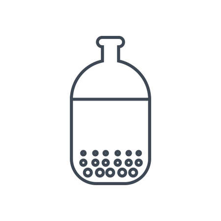 Thin line icon water treatment, purification, sedimentation Stock Illustratie