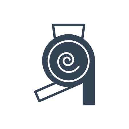 Vector black icon manufacture of dairy, milk separator