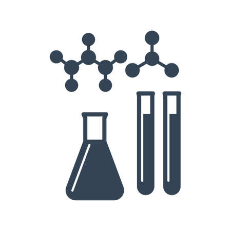 Vector black icon chemical laboratory equipment