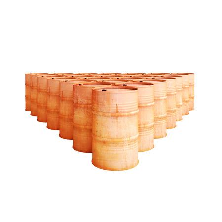 chemical material: Iron old metal barrels