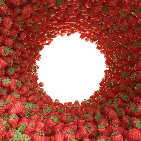 circular tunnel of strawberries photo