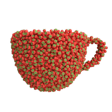 Cup of strawberries photo