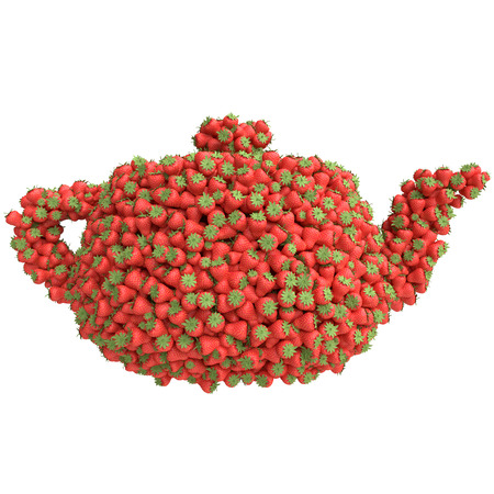 Teapot of  strawberries photo