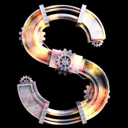 鉄、手紙 S から作られた機械のアルファベット