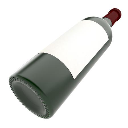 Bottle of wine isolate on white background photo