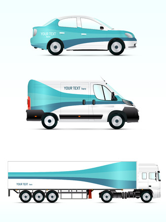 branding: Template vehicle for advertising, branding or corporate identity. Passenger car, truck, bus.