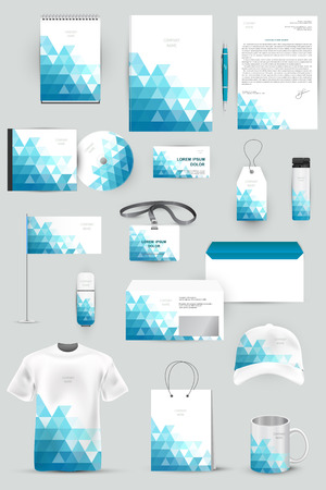 id badge: Collection of design elements for corporate identity business, advertising or visualization.