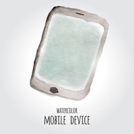 device: watercolor device Illustration