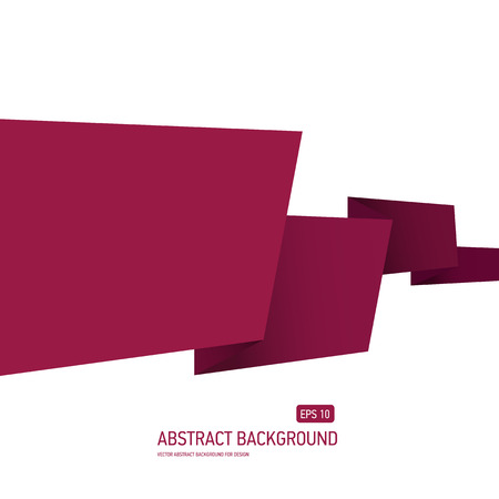 Abstract origami paper vector background Vector