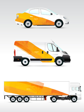 Template vehicle for advertising