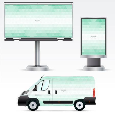 citylight: Template outdoor advertising or corporate identity on the car, billboard and citylight. For business, branding and advertising companies.