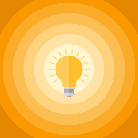 fond abstrait orange: R�sum� fond orange avec des cercles et ampoule.