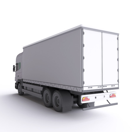 trailers: Truck. 3d illustration. Stock Photo