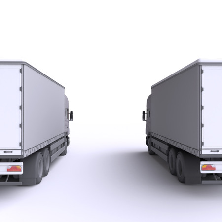Truck. 3d illustration. Stock Photo