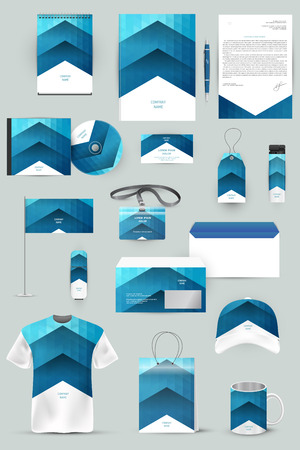 Collection of design elements for corporate identity business, advertising or visualization. Stok Fotoğraf - 36835092
