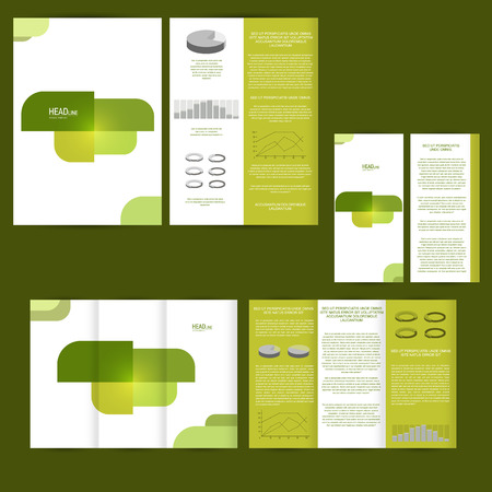 printing business: Set of design template with flyer, poster, brochure. For advertising, corporate identity, business, and other printing products.