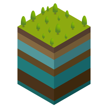 Natural concept from ground level and water