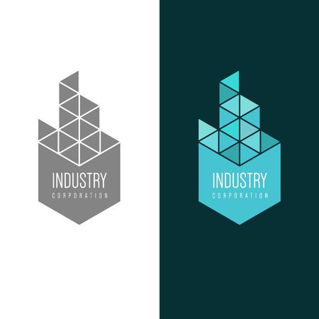 Logo inspiración para empresas constructoras, agencias inmobiliarias o empresas de arquitectura. Ilustración vectorial, elementos gráficos editables para el diseño.