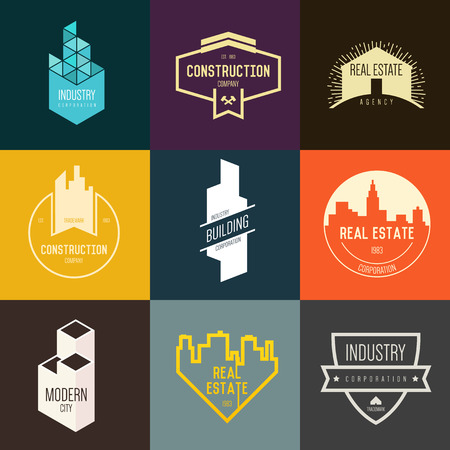 property: Logo inspiration for construction companies, real estate agencies or architectural companies. Vector Illustration, graphic elements editable for design.