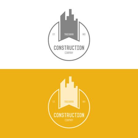 estates: Logo inspiraci�n para empresas constructoras, agencias inmobiliarias o empresas de arquitectura. Ilustraci�n vectorial, elementos gr�ficos editables para el dise�o.