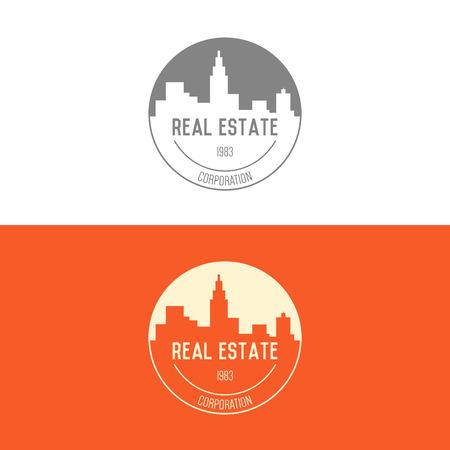 architectural elements: Logo inspiraci�n para empresas constructoras, agencias inmobiliarias o empresas de arquitectura. Ilustraci�n vectorial, elementos gr�ficos editables para el dise�o.