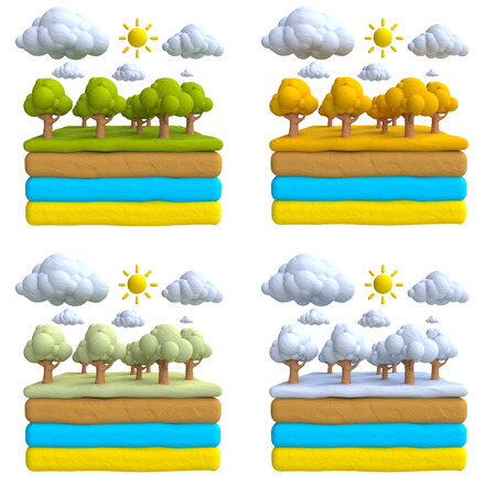 plasticine: The natural landscape of plasticine or clay