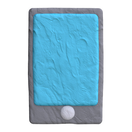 electronic device: Electronic mobile device from plasticine or clay