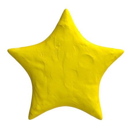 plasticine: Cartoon star of plasticine or clay