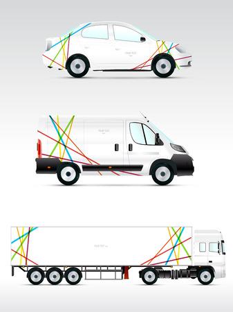 branding: Template vehicle for advertising, branding or corporate identity. Passenger car, truck, bus.