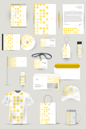 visualization: Collection of design elements for corporate identity business, advertising or visualization.