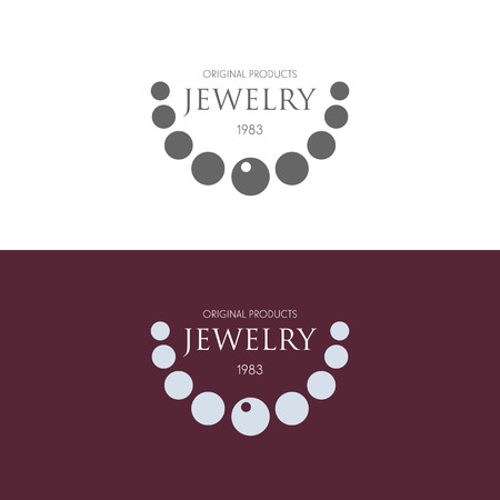 Logo inspiration with jewels and diamonds Vector