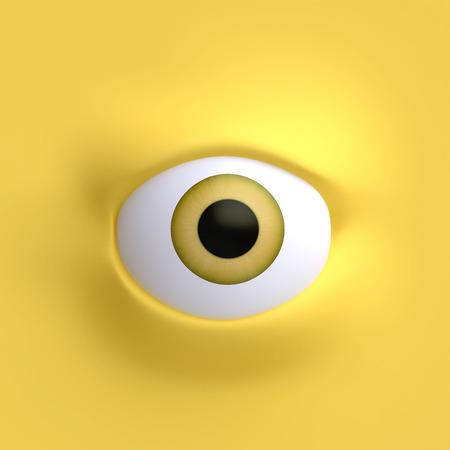caras graciosas: Cartoon cara elemento ojos para el personaje. Foto de archivo