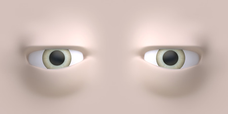 Cartoon eyes element face for character. 3d illustration. Фото со стока