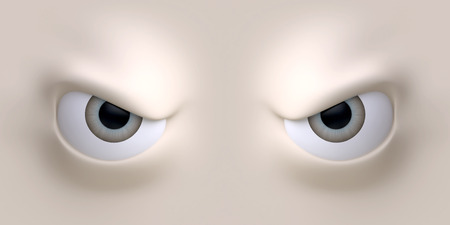 Cartoon eyes element face for character. 3d illustration. 版權商用圖片