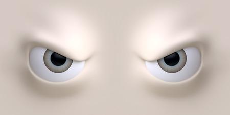 Cartoon faccia elemento occhi per il personaggio. Illustrazione 3D. Archivio Fotografico - 40954187