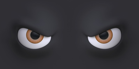 Cartoon eyes element face for character. 3d illustration. Stockfoto