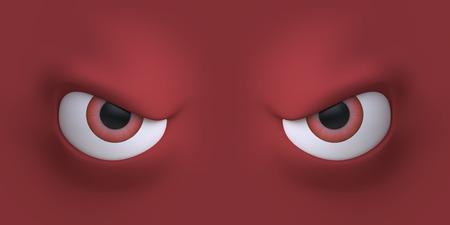 caras graciosas: Cartoon cara elemento ojos para el personaje. 3d ilustración.
