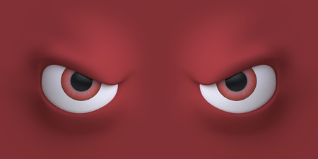 cartoon faces: Cartoon eyes element face for character. 3d illustration. Stock Photo