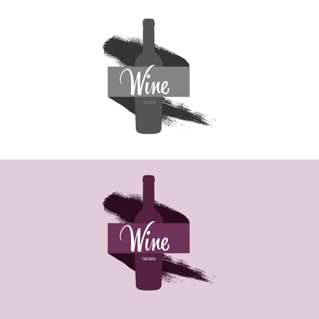 inspiratie: Logo inspiration for shops, companies, advertising with wine.