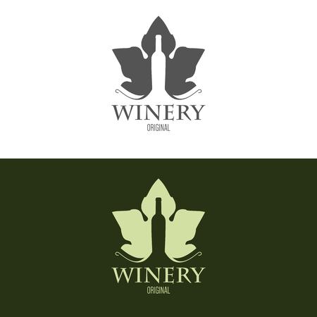 ショップ、会社のロゴのインスピレーションは、ワインと広告。