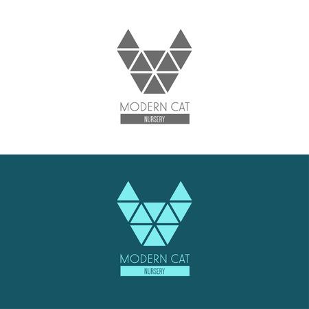 Logo inspiratie voor winkels, bedrijven, reclame met kat Stockfoto - 41533796