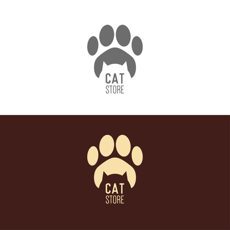 pet store advertising: Logo inspiration for shops, companies, advertising  with cat Illustration