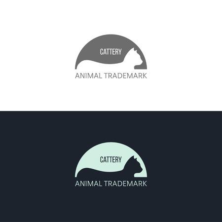 ショップ、会社のロゴのインスピレーションが猫と広告  イラスト・ベクター素材