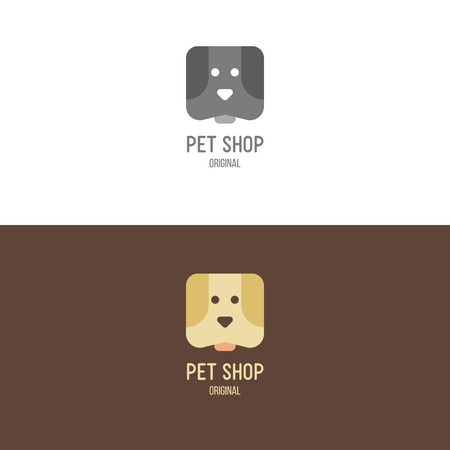 group of pets: Logo inspiration for shops, companies, advertising  with dog