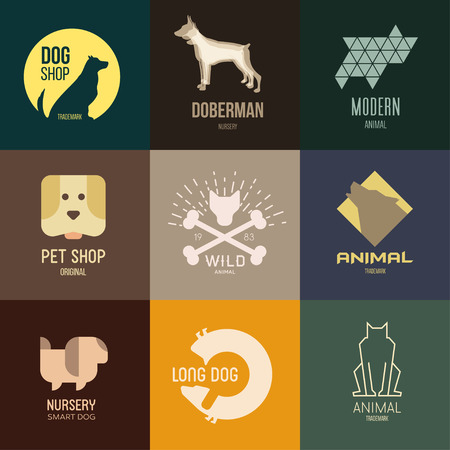 dog group: Logo inspiration for shops, companies, advertising  with dog