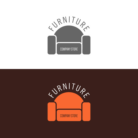 divan: Logo, badge or label inspiration with furniture