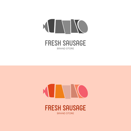 Vector Illustration, graphic elements editable for design with sausage and other meat products.