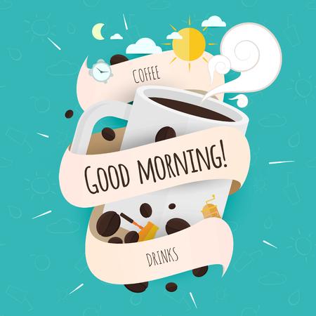 Kaffee, Guten Morgen, Getränke In Englisch, Deutsch, Französisch Und ...