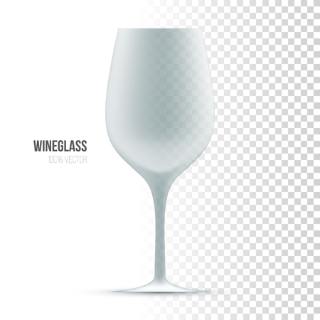 tumbler: Template of wineglass on transparent background Illustration