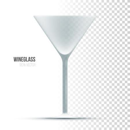 fondo transparente: Plantilla de la copa de vino en el fondo transparente